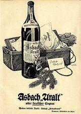 Asbach Uralt Brennerei Rüdesheim am Rhein FRÖHLICHE WEIHNACHT Annonce 1918