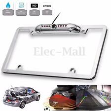 Car Rear View Backup Camera 8 IR Night Vision US License Plate Frame Mount CMOS