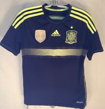 E813 Black adidas Spain FIFA 2010 Soccer Jersey Youth Boys XL