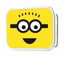 Despicable Me Spikey Hair Minion Face Chrome Metal Belt Buckle, NEW UNUSED