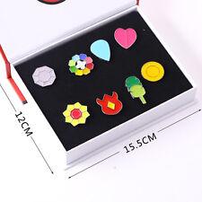 8x Pokemon Indigo League Gym Badges Metal Pins Brooch Kits Cosplay Kids Toy Gift