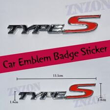 Type-S Logo 3D Metal Car Auto Truck Sticker Emblem Badge Decal Brand new