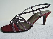 Lotus Evening/Party Sandal Shilpa Bordo/Glitz Size 5.5 C Fitting