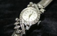 Orologio da donna vintage in oro bianco 750 e diamanti Lido