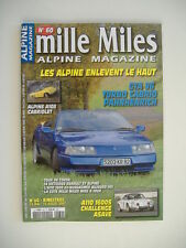 MILLE MILES n°60 ALPINE GTA V6 TURBO CABRIOLET-ALPINE A 108 CABRIOLET-A 110 1600