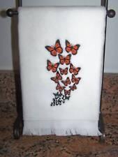 Fingertip/Hand Towel 11x18 Plush Butterfly Swarm