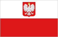 POLAND EAGLE FLAG Polish State Eagle Flags Europe Euro