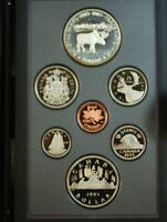 1985 Canada Proof Set- 100 Year National Parks- Double Dollar- w/Box & COA