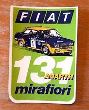 Fiat 131 Abarth Mirafiori (Green) Rally Motorsport Sticker / Decal