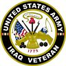 UNITED STATES Army IRAQ Veteran  Decal Window Bumper Sticker