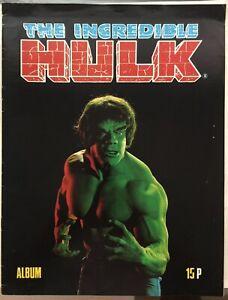 1979 INCREDIBLE HULK STICKER ALBUM (UNUSED) - UK