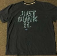 Nike Basketball Just Dunk It Shirt XXL Blue Swoosh Sportswear Jordan Vtg 90s Air