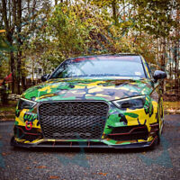 Fits Audi S3 S-Line 13-17 Carbon Front Bumper Splitter Lip A3 V8 Sedan Limousine