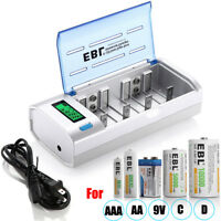 Universal LCD Smart Charger For Ni-MH Ni-CD 9V AA AAA C D Rechargeable Battery