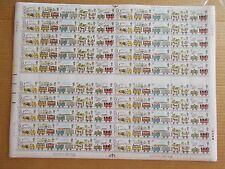1980 Railways Set in Complete Sheet of 100 Sg1113-7 Inc Varieities Superb M/N/H