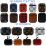 Luxury New AirPods Pro & 1/2 Leather Case Protective Skin Cover w/ Keychain Clip