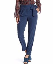 NEW BCBGeneration Front Tie Wrap Trouser Pants in Navy Blue Size 6 MSRP $98