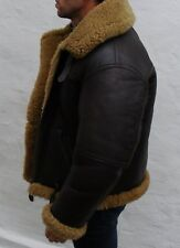 Irvin sheepskin leather flying jacket Medium 40 42 Homme Marron Motard Vintage B-3