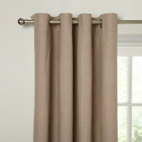 JohnLewis Lined Eyelet curtains Cotton Rib MOCHA/BROWN 150 x 182cm 59x72""
