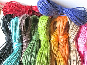 20 mts of Coloured Jute Twine tags labels, gift wrap parcels MULTI_BUY DISCOUNT