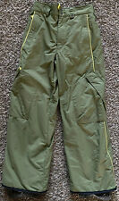 P13 BURTON Kids Snow Pants Snowboarding Ages 14-16 Project 13 Youth Green EUC