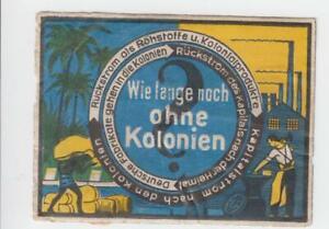 1925 Fritzlar Weimar Propagandaaufkleber Wie lange noch ohne Kolonien