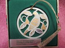 Lenox Christmas Ornament 12 Days of Christmas Partridge in a Pear Tree 1987