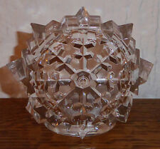 Cristal d' Arques Crystal Stand Christmas Holiday Snowflake Votive Candle Holder