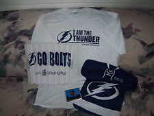 Tampa Bay LIGHTNING NHL Hockey T Shirt Rally Flag Bambams Fan Sign Clapper 4 Pcs