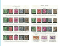 US Famous American Series, 1940, 859 - 893, MNH, OG, LH, NG, Used, set of 35 +3
