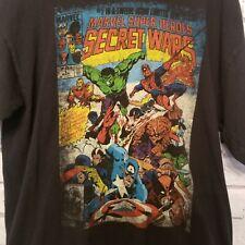 Marvel Super Heroes Secret Wars Mens Large Comic Book Cover Gildan T Shirt