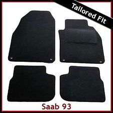 Saab 9-3 93 Convertible Pre-facelift Mk2 2002-2008 Tailored Carpet Mats BLACK