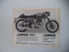 advertising Pubblicità 1969 MOTO LAVERDA 750 S