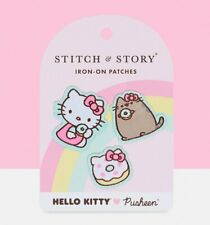Official Hello Kitty x Pusheen Pack of Three Iron On Patches from Stitch & Story