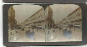 Vintage Stéréogramme Impérial Tsariste Russie Nevski Prospect St.Petersburg