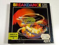 BREAKDANCE Epyx 1984 Original Commodore 64 C64 Spiel Cassette CIB Rare Sammler