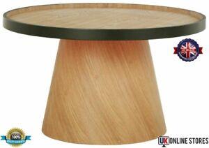 Habitat Brodi Wood Veneer Coffee Table Side End Ash & Black Wooden Home Tables