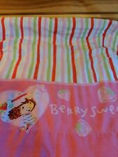 Vintage Strawberry Shortcake Pink Girls Flat Twin Bed Sheet