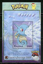 Guyana Pokemon Season'S Greetings 2000 Souvenir Sheet Mint Nh