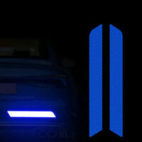 2x Blue Reflective Cycling Safety Warning Car Rear Bumper Decal Tape Sticker