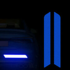 UK Blue Reflective Cycling Safety Warning Car Rear Bumper Decal Tape Sticker