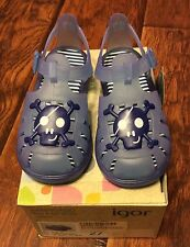 Boys Blue Sandals by Igor made in Spain size 27 M EU / US 9.5 M
