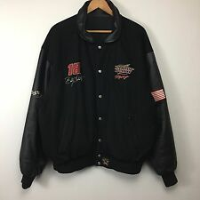 VTG 90s JH Design Bobby Labonte Leather Nascar Jacket Mens SZ 2XL Reversible