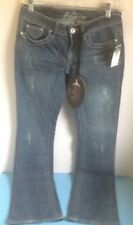 Women's Juniors Premiere Bootcut Denim Jeans w/Pocket Bling Rue 21 Size 1/2 NEW