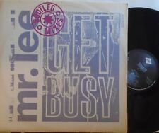 "MR LEE ~ Get Busy BOOTLEG MIXES ~ 12"" Single PS"
