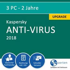 Kaspersky Anti-Virus 2018 Upgrade, 3 PC - 2 Jahre, ESD