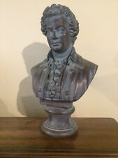 "18"" Large Bust of Mozart Music Sculpture Statue Art Plaster Aged Bronze"