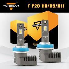 AUXBEAM H11 H8 H9 LED Headlight 5000LM Conversion Kit Fog Bulbs 6500K 50W Lamps