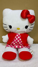 "21"" Hello Kitty Poka Dot Dress, Plush Toy, Doll, Stuffed Animal"