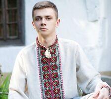 Ukrainian *HANDMADE* embroidered shirt for man, sorochka, vyshyvanka of cotton